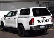 Toyota Hilux Dual Cab white back