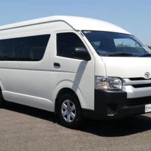 Toyota hi ace van white front
