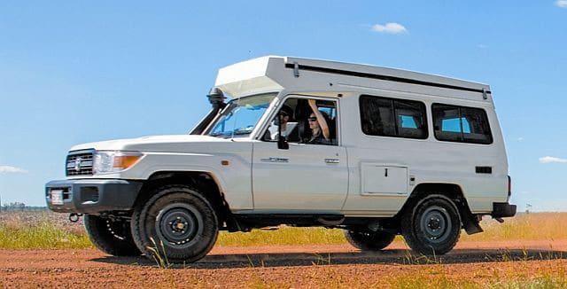 Landcruiser 4wd pop-up camper