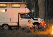 Fire side camper