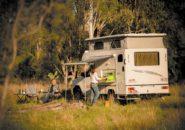 Back view camper