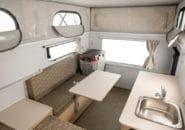Camper interior kitchen