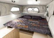 Camper interior sleeping