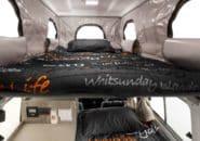 Trailfinder interior sleeping top view
